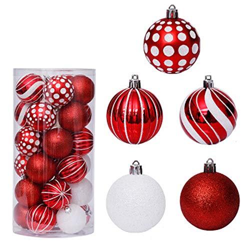 SADDPA Christmas Ball Christmas Tree Decoration Christmas Tree Ball Set is Exquisitely Decorated for Holidays, Weddings, Parties and Other Decorations.