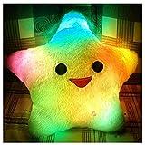 Ausgefallenes Kissen mit LED Stern
