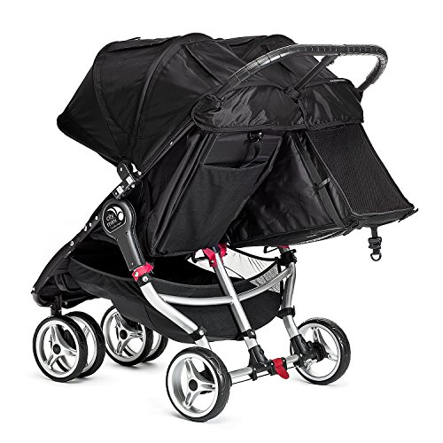 Baby Jogger City Mini Double Stroller - 2016 | Compact, Lightweight Double Stroller | Quick Fold Baby Stroller, Black/Gray