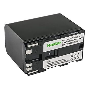 Kastar Battery  1-Pack  for Canon BP-945 BP-950 BP-970 Canon C2 FV1 FV500 Optura Ultura Vistura DM-XL2 DM-MV20 E65AS ES-8600 Hi8 G2000 GL2 MV200i UC-V300 V75Hi XH-G1 XL-H1 XM2 XV3