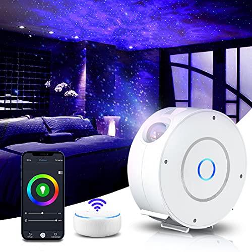 Lampada Proiettore Stelle, Proiettore stellato Intelligente Da Soffitto Per Proiezione Notturna, Con Controllo APP, Alexa, Timer, luce notturna per bambini