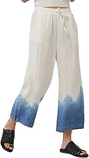Ecupper Women's Elastic Waist Causal Loose Trousers 100...