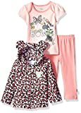 Disney Baby Girls' Minnie Mouse 3 Piece Bodysuit OR T-Shirt, Hoodie, Pant Set, Crystal Rose, 3-6 Months