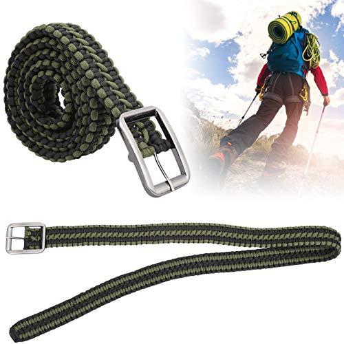 Cinturón de supervivencia, cinturón militar tejido a mano antienvejecimiento para montañismo