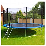 Kaiye 12 FT Trampoline with Enclosure Net Jumping Mat and Spring Cover Padding, 12-Foot Outdoor Large Bungee Jumping Bed for Kids & Adults- Trampoline Combo Kit, Maximum Weight Capacity 800LBS