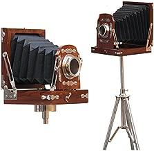 collectiblesBuy Vintage Look Old Steel Tripod Decorative Folded Camera Retro Photography Replica Studio Home Decor