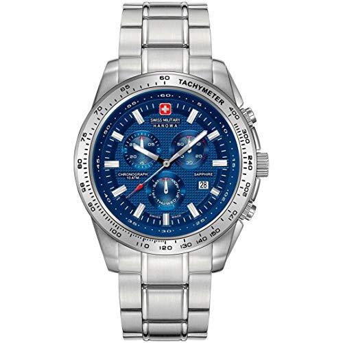 Swiss Military Hanowa Reloj Analógico para Hombre de Cuarzo con Correa en Acero Inoxidable 06-5225.04.003