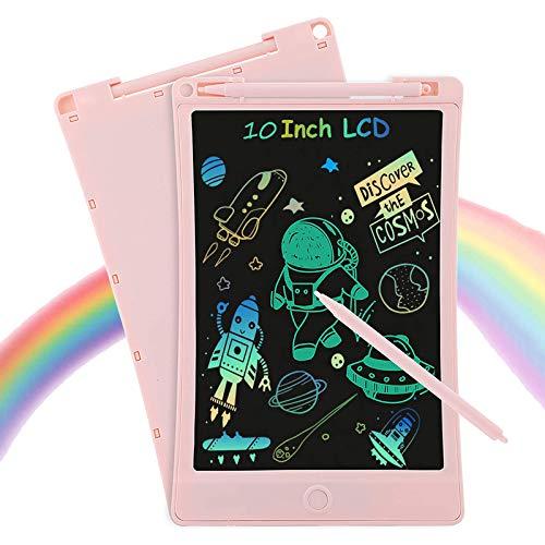 Huacuaia LCD-Schreibtablett mit Eingabestift, 25,4 cm, bunt, elektronisch, Zeichenbrett mit Speicherschloss, löschbar, tragbar, Mini-Board, Memo-Notizblock für Kinder, Lernspielzeug, Geburtstag
