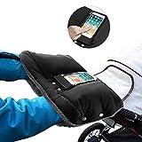 phixilin Handwärmer Kinderwagen Handschuhe Fleece Innenseite Handmuff mit Handytasche