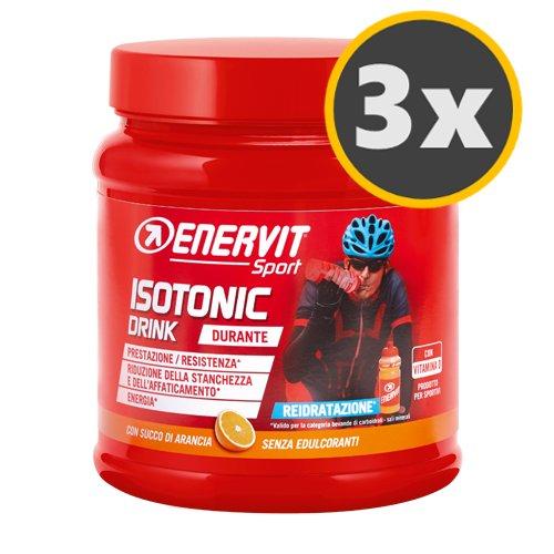 3 Enervit Isotonic Drink 420 g. gusto Arancio, Reidratazione, Maratona Dles Dolomites Enel 2018