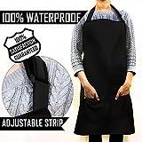 Tablier imperméable taille unique noir pour tous - Unisexe Vêtement de travail Tablier Coiffeur