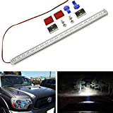 iJDMTOY 57-LED Extremely Bright Rigid Ultra Slim Fit Hood Scoop Mount Lightbar, Compatible with Toyota 2012-2015 Tacoma, 2010-2020 4Runner w/OEM Hood Scoop