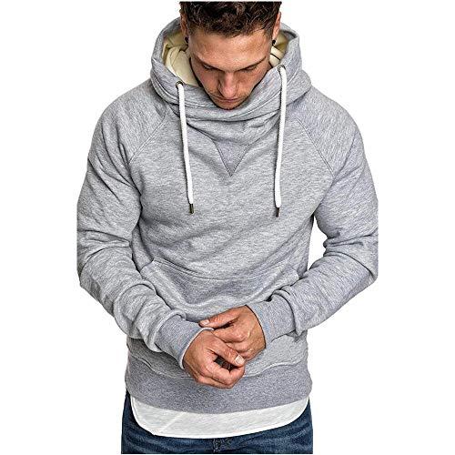 Herren Oversize Vintage Biker-Style Crew-Neck T-Shirt Sweatshirt Herren Kapuzenpullover Hoodie Pullover Sweatshirt mit Aufdruck Freizeit Street Gym Fitness Jogging Sport