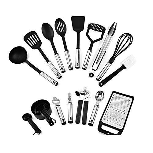 LINRUS 24Pcs Kitchen Spatula Silicone Non-Stick Cooking Spoon Egg Beater Tableware Cutlery Set Kitchen Tool Accessories