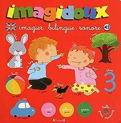 Livres d'anglais pour les tout petits Imagidoux Imagier bilingue sonore