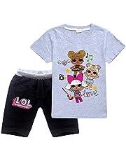 KCN LOL サプライズ ドール パジャマ 子供服 半袖+ショートパンツ 2点セット アクティブウェア Surprise Doll 薄手 夏 ルームウェア
