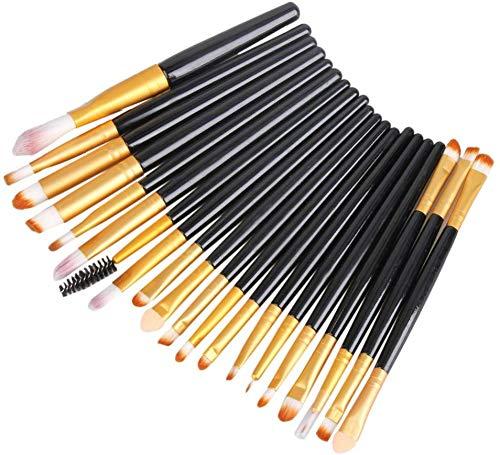Fashion Base - Set di 20 pennelli da trucco, per cipria, fondotinta, ombretto, eyeliner e labbra, per professionisti e uso quotidiano