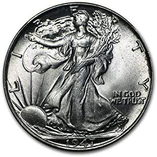 1947 Walking Liberty Half Dollar Brilliant Uncirculated 90% Silver .50 90% Silver US Coin MS/BU Fifty Cents