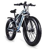 Shengmilo MX02S 48V 1000W Electric Bike Electric Mountain Bike 26inch Fat Tire e-Bike S-h-i-m-a-n-o 21 Speeds Beach Cruiser Mens Sports Mountain Bike Lithium Battery Hydraulic Disc Brakes