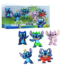 Bring home the adventures of Disney's Lilo and Stitch with the Collectible Stitch Figure Set. Five-piece set includes: Superhero Stitch, Stitch & Scrump, Alien Stitch, Hula Stitch, and Angel. Features excellent character detail. Come in fun collectib...