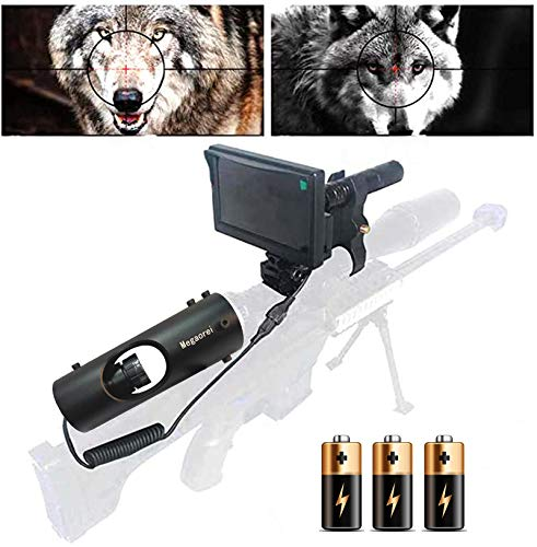 "Sumger DIY 984ft/328yard Infrared Hunting Night Vision Scopes for Rifles,3MP 16MM IR Optics Scope Camera for Riflescopes with 4.3"" Portable HD Display Screen"