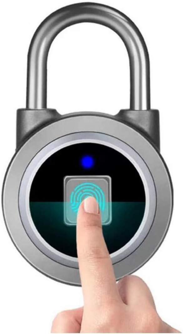 ZXDFG Smart Anti-Theft Padlock Fingerprint Rapid rise Waterproof Keyless Bl 4 years warranty
