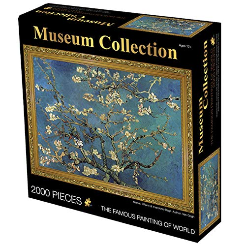 Wallpaper M Rompecabezas para Adultos 2000 Piezas Pintura de World Puzzle para niños DIY Jigsaw Puzzle Intelligence Juguetes educativos Mona Lisa-Almond Blossom