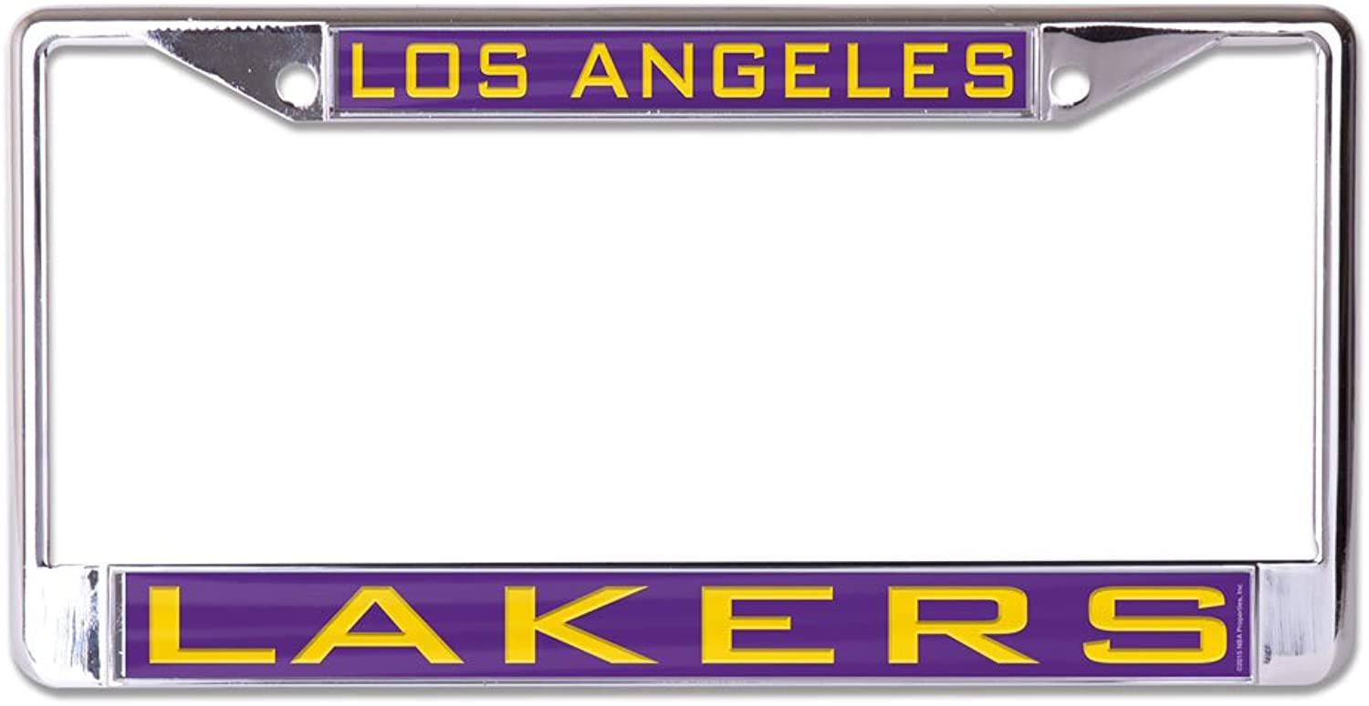 NBA Los Angeles Lakers Inlaid Metal License Plate Frame, 2-Tag Corners