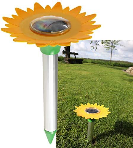ChiliTec Maulwurfschreck Wühlmaus-Scheuche Schallwellen Ultraschall Technik I Gebiet bis zu 800m² I Solarzelle mit Akku I Für Garten Rasen Beet