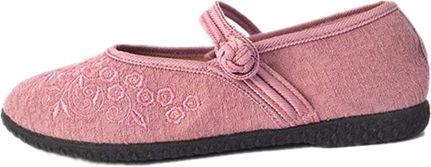 MXTIAN Mother's Day Women's Buddhism Totem Embroidery Casual Mary Jane shoes