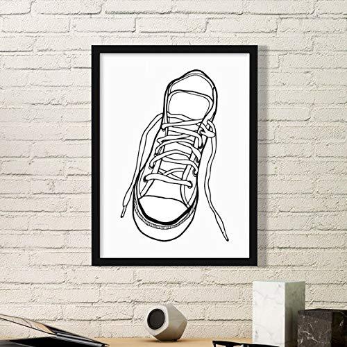 DIYthinker wit canvas schoenen geschilderd eenvoudige fotolijst kunst drukt schilderijen thuis muursticker cadeau