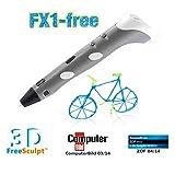 FreeSculpt 3D Pen Vorlagen: 3D-Pen Drucker-Stift für Freihand-3D-Zeichnungen FX1-free (3D Druckstift)
