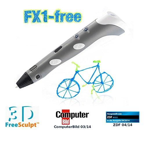 FreeSculpt 3D Druckstift: 3D-Pen Drucker-Stift für Freihand-3D-Zeichnungen FX1-free (3D Handdrucker)