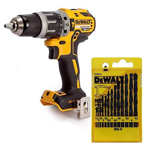 Dewalt DCD796N 18v XR Brushless Combi Drill + DT5912 Metal Drill Bit Set of 13