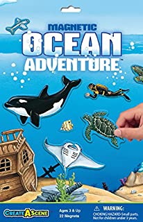 PlayMonster 7109 Create-A-Scene Magnetic Playset - Ocean Adventure