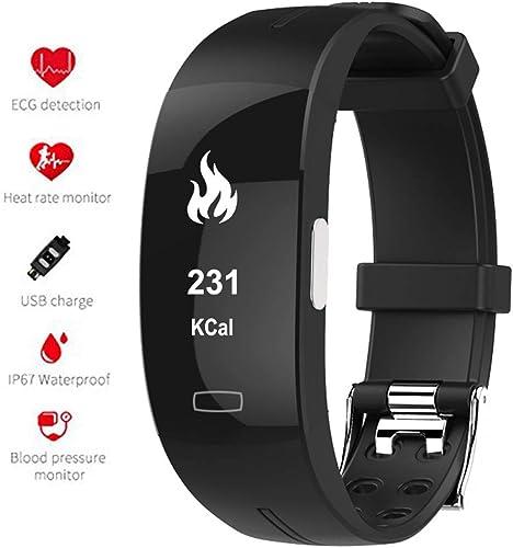 Fitness Tracker HR Smart Bracelet avec moniteur de fréquence cardiaque et moniteur de pression artérielle Calorie Step Counter Watch Fitness Bracelet activité Tracker pour Enfant Femmes Hommes,noir