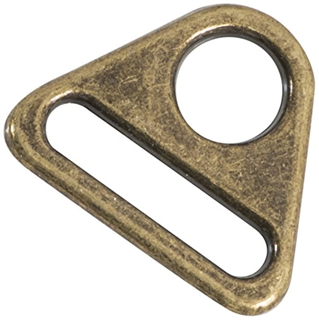 Dritz 738-38 Triangle Rings, Antique Brass, 1-Inch 2-Count