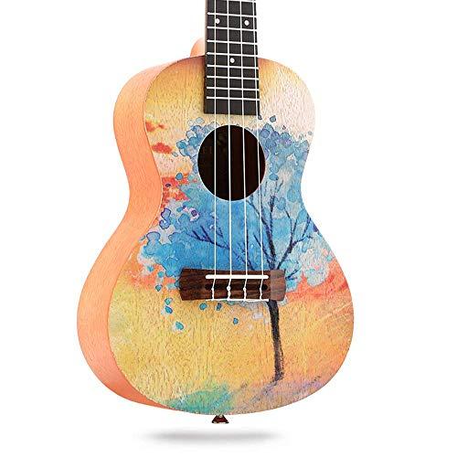 23-Zoll-Ukulele, Ukulele-Gitarre, Palisander-Ukulele, gemalter Stil,C,23inch