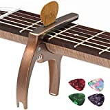 TANMUS 3in1 Guitar Capo for Acoustic and Electric Guitars(with Pick Holder and 4Picks),Uku...