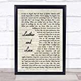123 BiiUYOO Stevie Nicks Leather and Lace Song Lyric Vintage Script Print 14' x 12' Inches