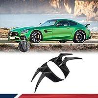 カーボン製 フロント バンパートリム for メルセデス・ベンツ Mercedes Benz AMG GT R 2Door 2016-2019 エアインテーク フロントスプリッター カスタムパーツ サイドトリム スポイラー ガーニッシュ 車装飾 リアル carbon fiber 炭素繊維