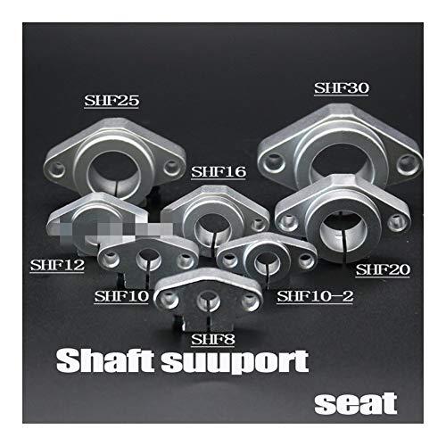 Rodamientos de Block, 1pc SHF8 SHF10 SHF12 SHF13 SHF16 SHF20 SHF25 SHF30 8mm lineares del carril de árbol de soporte, XYZ Tabla CNC Router 3D Parte de la impresora (Size : 12mm)