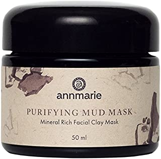 Annmarie Skin Care Purifying Mud Mask - Facial Clay Mask with Rose Clay, Moroccan Rhassoul Clay + Chlorella (50 Milliliters, 1.7 Fluid Ounces)