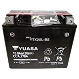 YUASA ユアサ YTX20L-BS 【液入れ初期補充電済】(65989-90B、65989-97A、65989-97B、65989-97 CTX20L-BS FTX20L-BS YB16L-B YB16HL-A-CX互換) ハーレー用 ジェットスキー用 バッテリー 密閉型