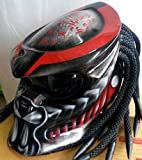 Custom Predator Motorcycle Dot Approved Helmet