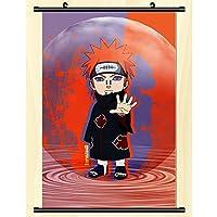 ウォールスクロール壁画アニメナルト壁掛けポスターオタクアート印刷画像アニメーション周辺ファンギフト-40x60cm,16inchx24inch