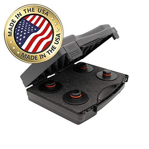 werkzeugbude24 Original jackpad® Wagenheber Adapter passend für Tesla Model X - (4 Stück im Koffer) - !!! Kein Gummiadapter !!!