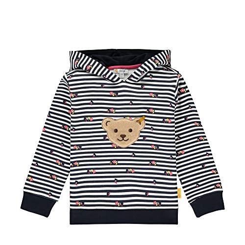 Steiff Mädchen mit süßer Teddybärapplikation Sweatshirt, Navy, 086