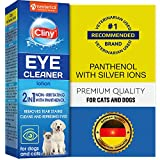 Cliny Universal Pet Eye Cleaner for Dogs & Cats -Gentle Eye Infection Treatment - Tear Stain & Dirt Crust - Natural Eye Wash- Prevents and Controls Irritation