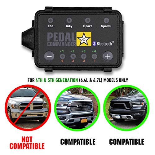 Pedal Commander - PC31 for RAM 2500 & 3500 (2019 and newer) (4th & 5th Gen) Big Horn, Laramie, Limited, Lone Star, Power Wagon, Tradesman (6.4L 6.7L) Gas & Diesel   Throttle Response Controller